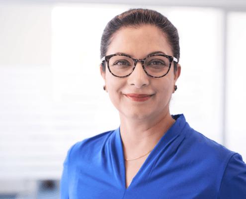 Klinik administrator Aneela Tareen